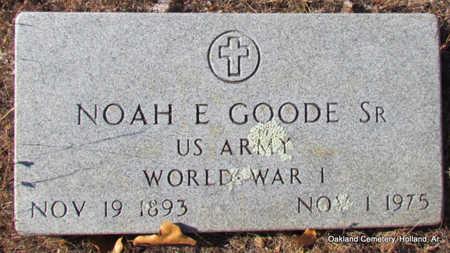 GOODE, SR (VETERAN WWI), NOAH E - Faulkner County, Arkansas | NOAH E GOODE, SR (VETERAN WWI) - Arkansas Gravestone Photos