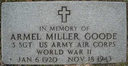 GOODE (VETERAN WWII), ARMEL MILLER - Faulkner County, Arkansas | ARMEL MILLER GOODE (VETERAN WWII) - Arkansas Gravestone Photos
