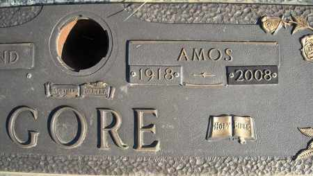 GORE, AMOS (CLOSE UP) - Faulkner County, Arkansas | AMOS (CLOSE UP) GORE - Arkansas Gravestone Photos