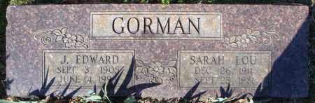 GORMAN, J. EDWARD - Faulkner County, Arkansas | J. EDWARD GORMAN - Arkansas Gravestone Photos