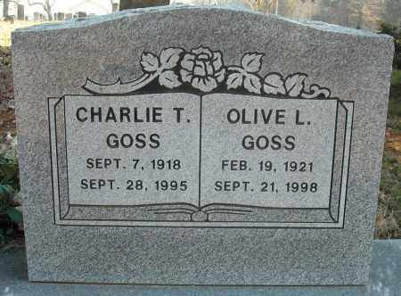 GOSS, OLIVE L. - Faulkner County, Arkansas | OLIVE L. GOSS - Arkansas Gravestone Photos