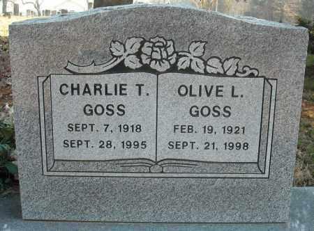 GOSS, CHARLIE T. - Faulkner County, Arkansas | CHARLIE T. GOSS - Arkansas Gravestone Photos