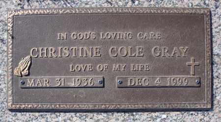 GRAY, CHRISTINE - Faulkner County, Arkansas   CHRISTINE GRAY - Arkansas Gravestone Photos