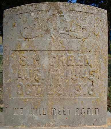 GREEN, S.H. - Faulkner County, Arkansas   S.H. GREEN - Arkansas Gravestone Photos