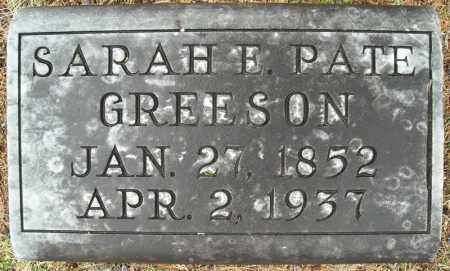 PATE GREESON, SARAH E. - Faulkner County, Arkansas | SARAH E. PATE GREESON - Arkansas Gravestone Photos