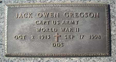 GREGSON, DDS. (VETERAN WWII), JACK OWEN - Faulkner County, Arkansas | JACK OWEN GREGSON, DDS. (VETERAN WWII) - Arkansas Gravestone Photos