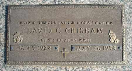 GRISHAM (VETERAN WWII), DAVID C - Faulkner County, Arkansas | DAVID C GRISHAM (VETERAN WWII) - Arkansas Gravestone Photos