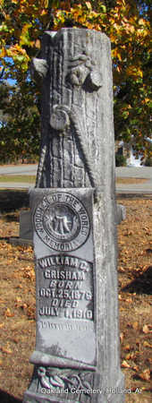 GRISHAM, WILLIAM G. - Faulkner County, Arkansas | WILLIAM G. GRISHAM - Arkansas Gravestone Photos