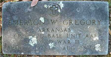 GREGORY (VETERAN WWII), EMERSON W - Faulkner County, Arkansas | EMERSON W GREGORY (VETERAN WWII) - Arkansas Gravestone Photos