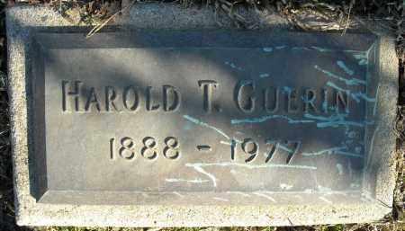 GUERIN, HAROLD T. - Faulkner County, Arkansas | HAROLD T. GUERIN - Arkansas Gravestone Photos