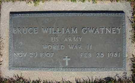GWATNEY (VETERAN WWII), BRUCE WILLIAM - Faulkner County, Arkansas | BRUCE WILLIAM GWATNEY (VETERAN WWII) - Arkansas Gravestone Photos