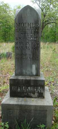 HACKLER, ELIZABETH - Faulkner County, Arkansas | ELIZABETH HACKLER - Arkansas Gravestone Photos