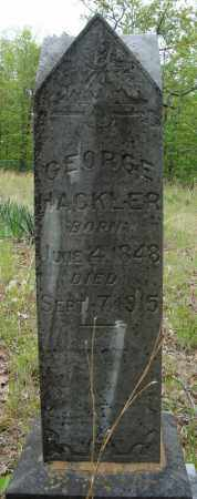 HACKLER, GEORGE - Faulkner County, Arkansas | GEORGE HACKLER - Arkansas Gravestone Photos