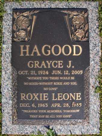 HAGOOD, ROXY LEONE - Faulkner County, Arkansas | ROXY LEONE HAGOOD - Arkansas Gravestone Photos