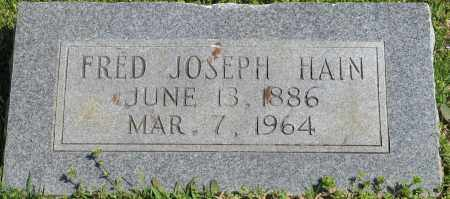 HAIN, FRED JOSEPH - Faulkner County, Arkansas | FRED JOSEPH HAIN - Arkansas Gravestone Photos