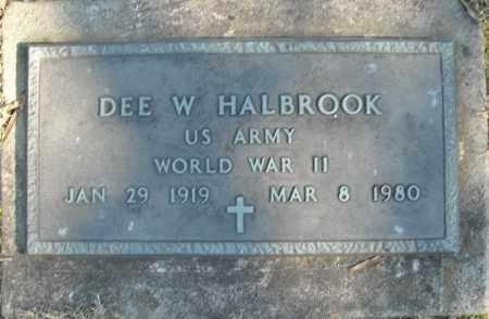 HALBROOK (VETERAN WWII), DEE W - Faulkner County, Arkansas | DEE W HALBROOK (VETERAN WWII) - Arkansas Gravestone Photos