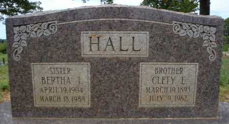 HALL, CLETY E. - Faulkner County, Arkansas | CLETY E. HALL - Arkansas Gravestone Photos