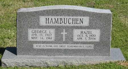 HAMBUCHEN, GEORGE L. - Faulkner County, Arkansas | GEORGE L. HAMBUCHEN - Arkansas Gravestone Photos