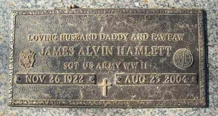 HAMLETT (VETERAN WWII), JAMES ALVIN - Faulkner County, Arkansas | JAMES ALVIN HAMLETT (VETERAN WWII) - Arkansas Gravestone Photos