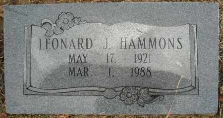 HAMMONS, LEONARD J. - Faulkner County, Arkansas | LEONARD J. HAMMONS - Arkansas Gravestone Photos