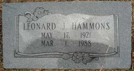 HAMMONS, LEONARD J. - Faulkner County, Arkansas | LEONARD J. HAMMONS - Arkansas Gravestone Photos