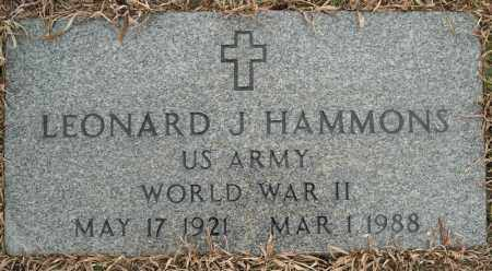 HAMMONS (VETERAN WWII), LEONARD J - Faulkner County, Arkansas | LEONARD J HAMMONS (VETERAN WWII) - Arkansas Gravestone Photos