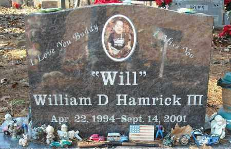 HAMRICK, III, WILLIAM D. - Faulkner County, Arkansas | WILLIAM D. HAMRICK, III - Arkansas Gravestone Photos