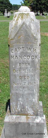 HANCOCK (VETERAN), WILLIAM HENRY - Faulkner County, Arkansas | WILLIAM HENRY HANCOCK (VETERAN) - Arkansas Gravestone Photos