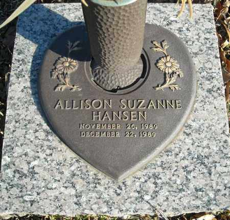 HANSEN, ALLISON SUZANNE - Faulkner County, Arkansas | ALLISON SUZANNE HANSEN - Arkansas Gravestone Photos