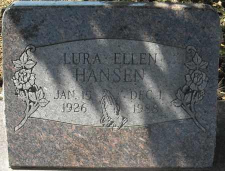 HANSEN, LURA ELLEN - Faulkner County, Arkansas | LURA ELLEN HANSEN - Arkansas Gravestone Photos