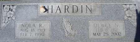 HARDIN, DEWEY N. - Faulkner County, Arkansas | DEWEY N. HARDIN - Arkansas Gravestone Photos