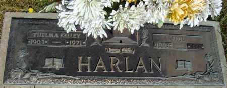 KELLEY HARLAN, THELMA - Faulkner County, Arkansas | THELMA KELLEY HARLAN - Arkansas Gravestone Photos