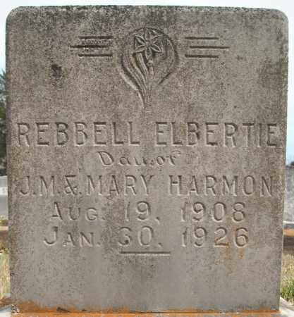 HARMON, REBBELL ELBERTIE - Faulkner County, Arkansas | REBBELL ELBERTIE HARMON - Arkansas Gravestone Photos