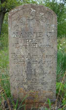 HARPER, NANNIE J. - Faulkner County, Arkansas | NANNIE J. HARPER - Arkansas Gravestone Photos