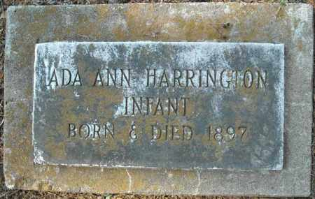 HARRINGTON, ADA ANN - Faulkner County, Arkansas | ADA ANN HARRINGTON - Arkansas Gravestone Photos