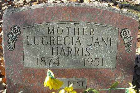 HARRIS, LUCRECIA JANE - Faulkner County, Arkansas | LUCRECIA JANE HARRIS - Arkansas Gravestone Photos