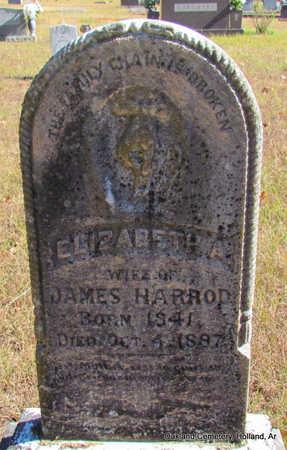 HARROD, ELIZABETH A. - Faulkner County, Arkansas | ELIZABETH A. HARROD - Arkansas Gravestone Photos