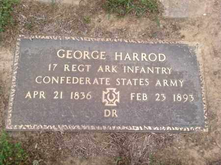 HARROD (VETERAN CSA), GEORGE - Faulkner County, Arkansas | GEORGE HARROD (VETERAN CSA) - Arkansas Gravestone Photos