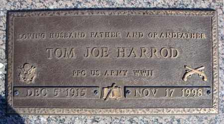 HARROD (VETERAN WWII), TOM JOE - Faulkner County, Arkansas | TOM JOE HARROD (VETERAN WWII) - Arkansas Gravestone Photos