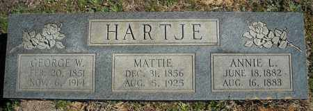 HARTJE, MATTIE - Faulkner County, Arkansas | MATTIE HARTJE - Arkansas Gravestone Photos