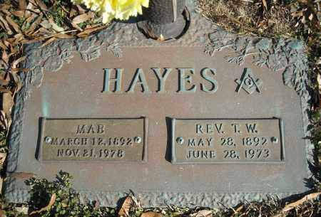 HAYES, REV., T.W. - Faulkner County, Arkansas | T.W. HAYES, REV. - Arkansas Gravestone Photos