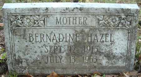 HAZEL, BERNADINE - Faulkner County, Arkansas | BERNADINE HAZEL - Arkansas Gravestone Photos