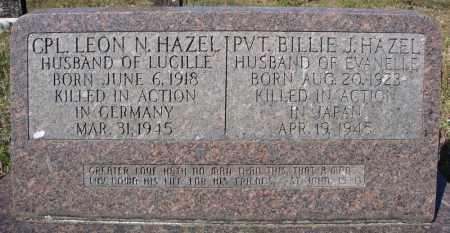 HAZEL (VETERAN WWII, KIA), BILLIE J - Faulkner County, Arkansas | BILLIE J HAZEL (VETERAN WWII, KIA) - Arkansas Gravestone Photos