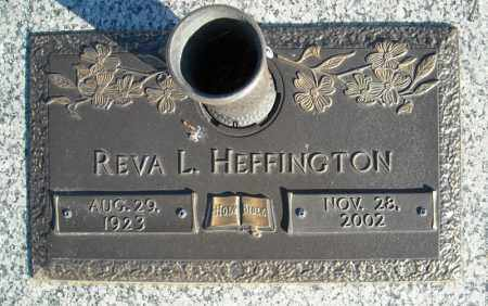HEFFINGTON, REVA L. - Faulkner County, Arkansas | REVA L. HEFFINGTON - Arkansas Gravestone Photos
