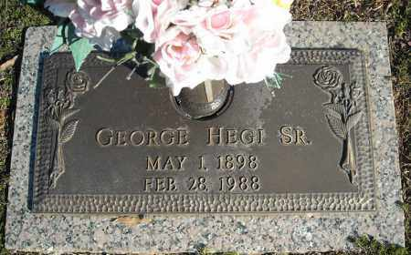 HEGI, SR., GEORGE - Faulkner County, Arkansas | GEORGE HEGI, SR. - Arkansas Gravestone Photos