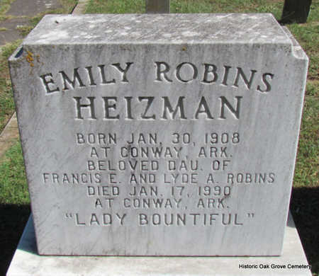 ROBINS HEIZMAN, EMILY - Faulkner County, Arkansas | EMILY ROBINS HEIZMAN - Arkansas Gravestone Photos