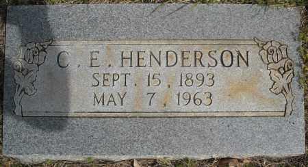 HENDERSON, C.E. - Faulkner County, Arkansas   C.E. HENDERSON - Arkansas Gravestone Photos