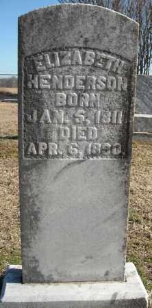 HENDERSON, ELIZABETH - Faulkner County, Arkansas | ELIZABETH HENDERSON - Arkansas Gravestone Photos