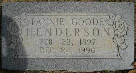 GOODE HENDERSON, FANNIE - Faulkner County, Arkansas | FANNIE GOODE HENDERSON - Arkansas Gravestone Photos
