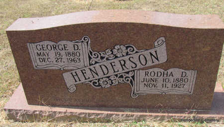 *HENDERSON, GEORGE D. (LAND OWNER) - Faulkner County, Arkansas | GEORGE D. (LAND OWNER) *HENDERSON - Arkansas Gravestone Photos